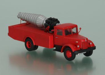 ПАГТ опытный пожарный автомобиль газоводяного тушения с ТРД ВК-1Ф на шасси МАЗ-200