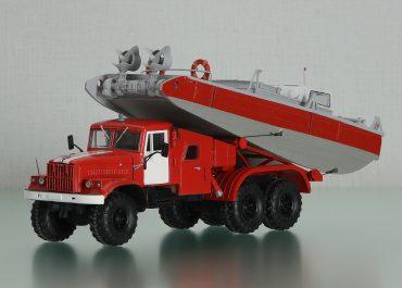 ПАК-40 (255Б)-16650ПМ плавучая пожарная станция «Искра» из КрАЗ-255Б1