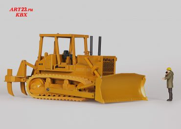 Fiat Allis HD-41B, earlier Allis Chalmers HD41, crawler hydraulic bulldozer