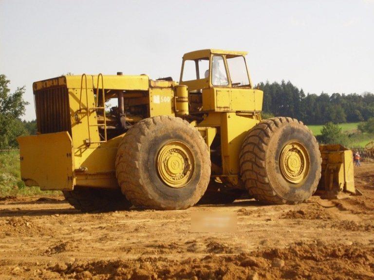 International-Hough D-500 Pay Dozer wheeled hydraulic bulldozer