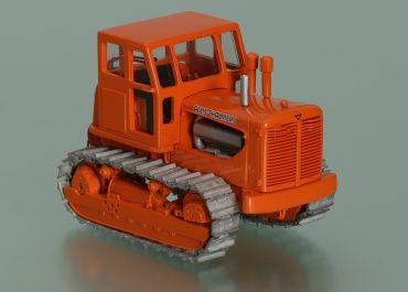 Allis-Chalmers HD20 crawler tractor scraper pusher