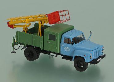 ТВГ-15Н телескопическая канатно-гидравлическая автовышка на шасси ГАЗ-53-12