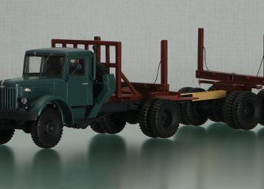 МАЗ-501/501Б первый советский полноприводный тягач-лесовоз с прицепом-роспуском 2-Р-15/ТМЗ-803