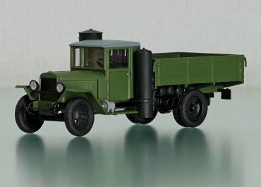 ЗиС-21А/УралЗиС-21А бортовой газогенераторный грузовик на шасси ЗиС-5/УралЗиС-5В3