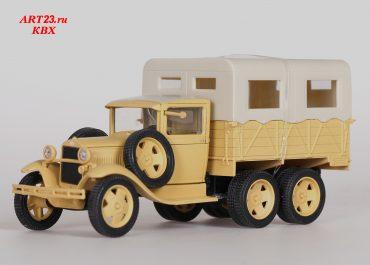 ГАЗ-ААА опытный бортовой грузовик автопробега Москва-Каракумы-Москва 1933 год
