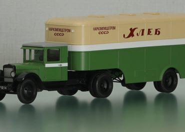 ЗиС-10 опытный седельный тягач с полуприцепом-фургоном ППД/КФ для перевозки хлебобулочных изделий на шасси ПП-6