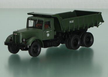 ЯАЗ-210Е строительный самосвал задней выгрузки для перевозки полужидких грузов с задним бортом