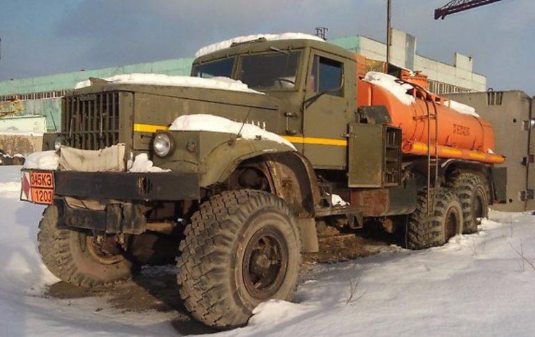 АЦ-8,5-255Б транспортная автоцистерна на шасси КРАЗ-255Б/Б1