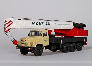 МКАТ-40 8х4.4 гидравлический автокран с телескопической стрелой на шасси КрАЗ-250
