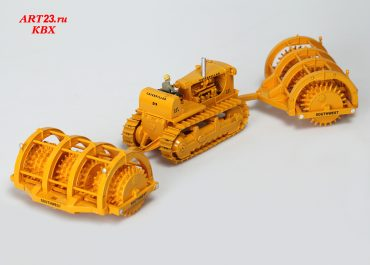 Caterpillar D9G Track-type Tractor + Southwest Sheepsfoot 355-RR Rollers