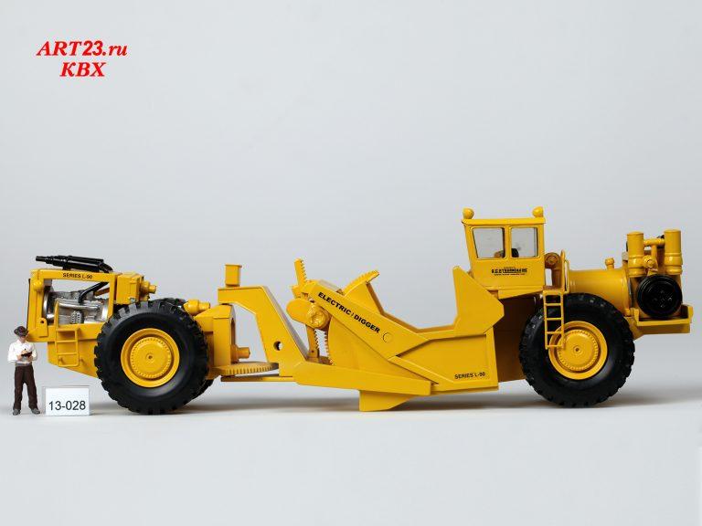 LeTourneau L-90-8 Electric Digger 3 Bowl scraper set