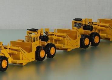LeTourneau L-90-12 Electric Digger «Morrison-Knudsen Co.» diesel-electric Scraper