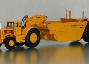 Caterpillar 666 wheel tractor-Scraper