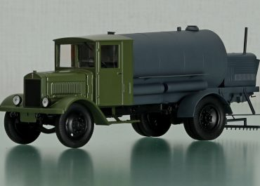 АГЦ «Комсомолец» автогудронатор для розлива битума под давлением на шасси ЯГ-4
