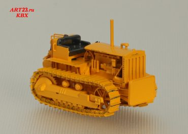 Caterpillar D8 bulldozer with push Block