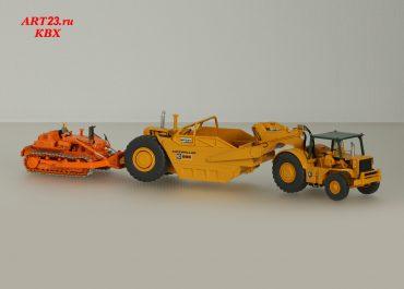 Euclid TC-12-3/Terex 82-80 Western crawler tractor push Scraper