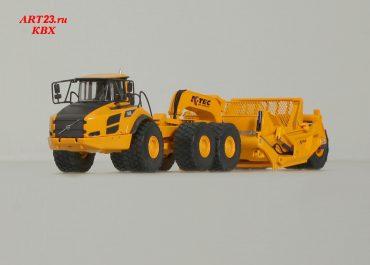 K-Tec 1233ADT 1-axle wheel Scraper