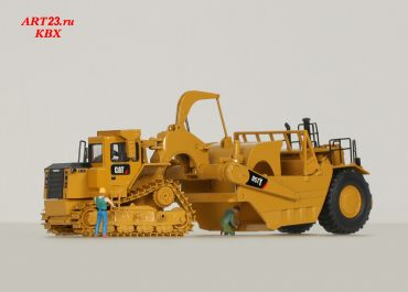 Caterpillar D57T Wheel Tractor Scraper on the basis of a bulldozer Cat D10T