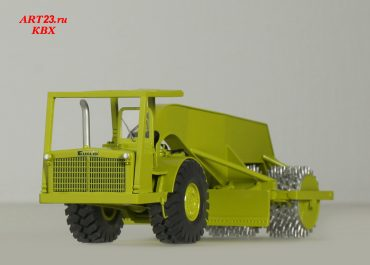 Southwest 454 compactor three-wheel roller on the basis of Euclid TS-24 31LOT