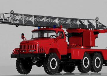 АЛ-30(131) модель ПМ-506 пожарная автолестница с гидроприводом на шасси ЗиЛ-131Н