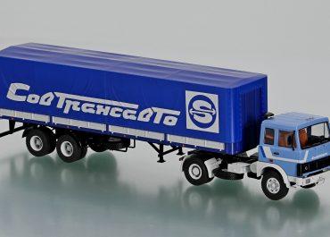 МАЗ-5432/54322 седельный тягач с бортовым полуприцепом МАЗ-9397