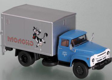 У-165 изотермический фургон с гидроподъёмным бортом для перевозки продуктов в контейнерах на шасси ЗиЛ-130