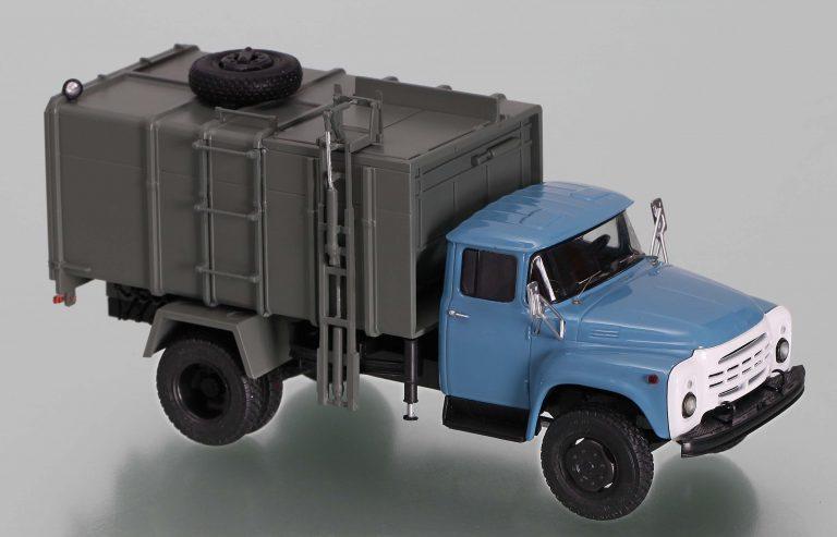КО-431 мусоровоз с боковой загрузкой и самосвальной задней выгрузкой на шасси ЗиЛ-495710