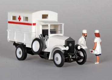АМО Ф-15 грузовой автомобиль с санитарным фургоном