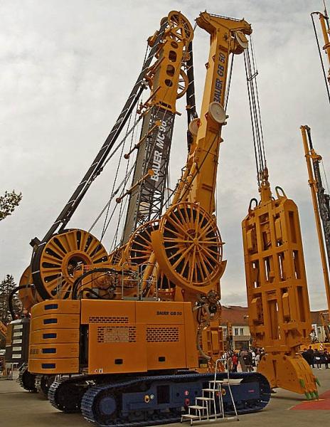 Bauer GB50 Grab System DHG V is designed for excavating underground panels