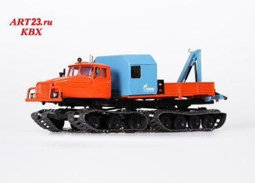 ТС АНРВ гусеничный автомобиль для наземного ремонта водопроводов с КМУ ИМ-50 на базе снегоболотохода Урал-5920