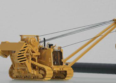 Caterpillar 583T crawler pipelayer with R. O. P. S