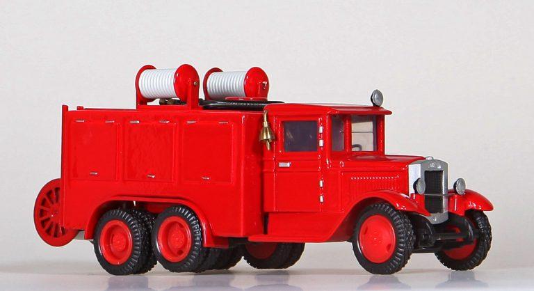 Пожарный автомобиль химического и воздушно-пенного тушения на базе армейского топливозаправщика БЗ-35