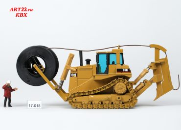 Buster Peterson crawler cable stacker based on a bulldozer Caterpillar D9R