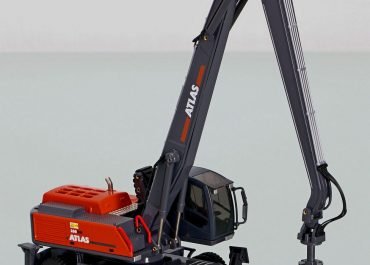 Atlas 350 MH wheel Material Handling Excavator with pincer Grab