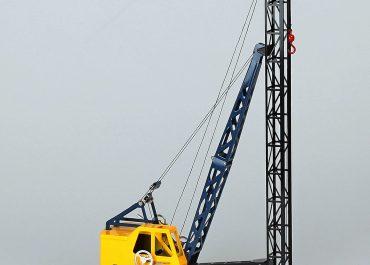 Michigan C-24 crawler crane with pile driver