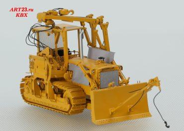 Caterpillar 583 D&RGW, Denver&Rio Grande Western Railroad pipe laying dozer w/attachment on blade