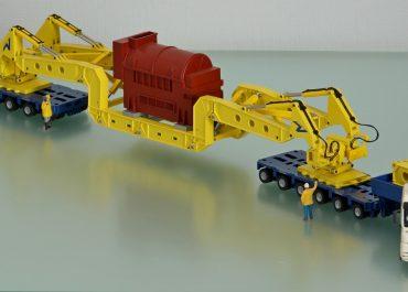 MAN TGX 41.680 «Voss International» truck tractor with trailer Goldhoffer