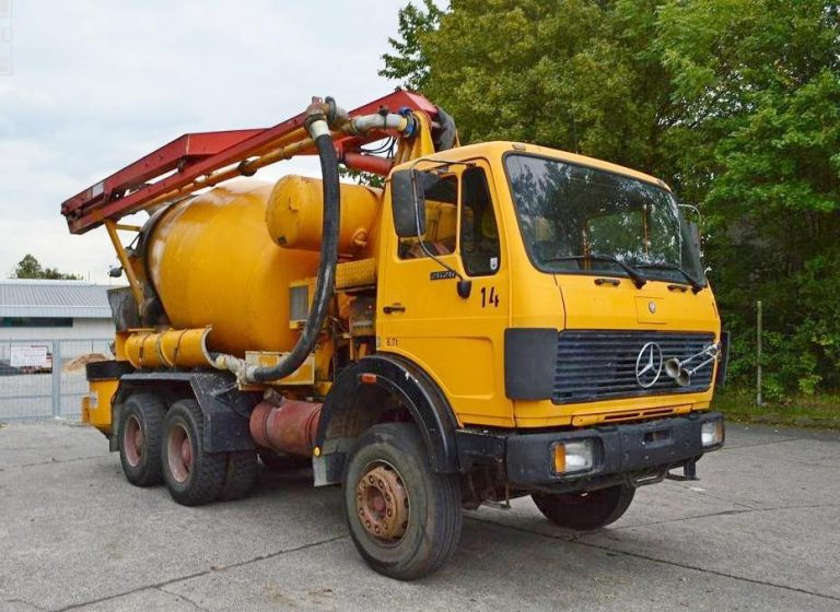 Putzmeister PUMI M16 truck mixer with concrete pump and boom