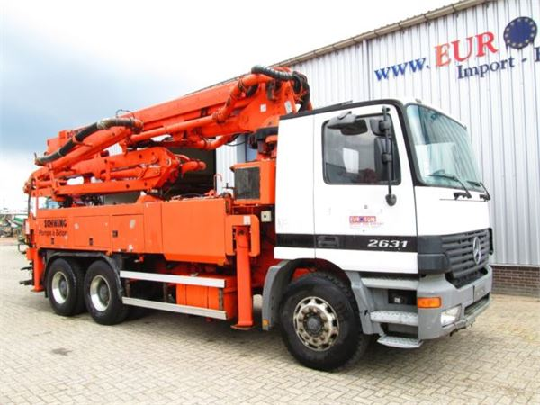 Schwing S31HT truck-mounted concrete pump with boom