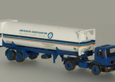 MAN F 90 19.362 FS «Messer Griesheim» truck tractor with 2-axle semi-trailer-tank-container TC-2
