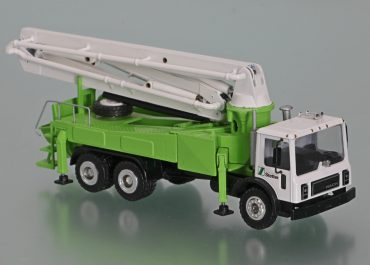 Schwing KVM 34 X truck-mounted concrete pump with boom