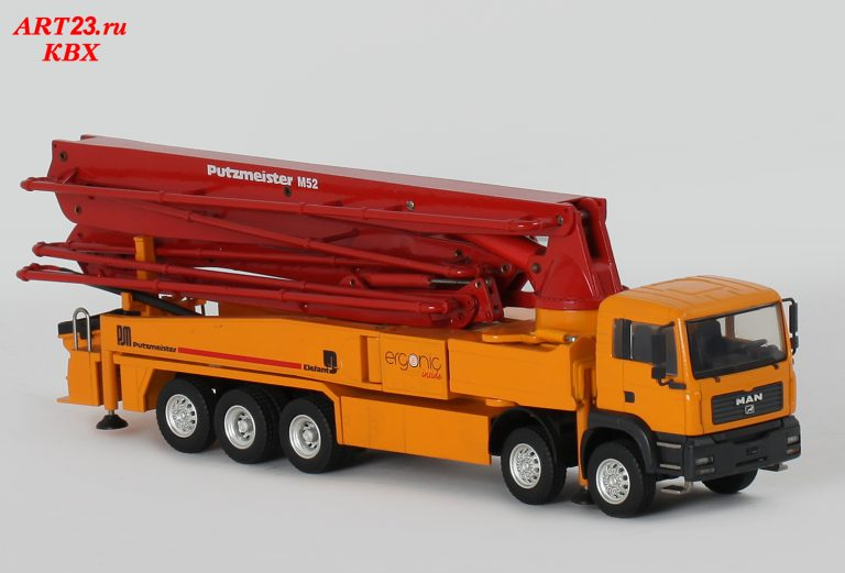 Putzmeister BRF 52.16H truck-mounted concrete pump with boom