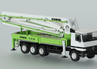 Schwing KVM S42SX truck-mounted concrete pump with boom
