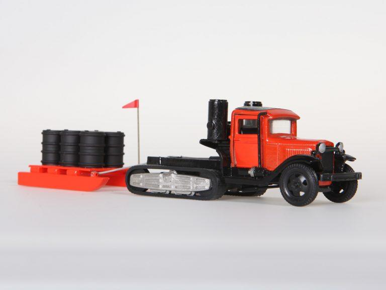 НАТИ-В-3 (ГАЗ-НАТИ) эксперементальный колёсно-гусеничный вездеход с газогенераторной установкой НАТИ-Г28