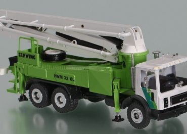 Schwing KVM 32 XL truck-mounted concrete pump with boom
