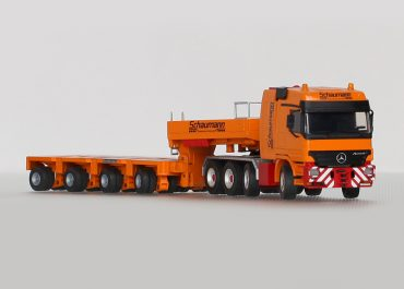 Mercedes Benz Actros 4160 SLT MP2 «Schaumann» truck tractor with Goldhoffer 4-axle semi-trailer