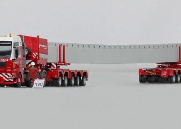 MAN TGA 41.660 XXL «Wagenborg Nedlift» truck tractor with 5-axle semi-trailer Scheuerle Intercombi