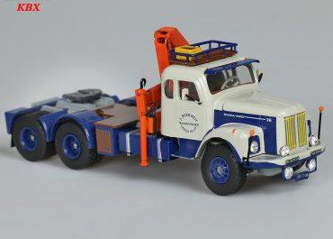 Scania-Vabis LS 76 Super «Boekweit Transport» 6×4 truck tractor with crane- manipulator Hiab