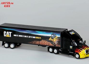 Kenworth T2000 «Caterpillar» truck tractor with semi-trailer-van