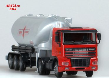 DAF FT 95XF.420 cement tank with semi-trailer-tank Spitzer Eurovrac SF2737